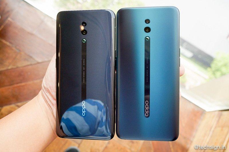 Trên tay OPPO Reno: Hai màu, không bám vân tay, camera pop-up rất riêng