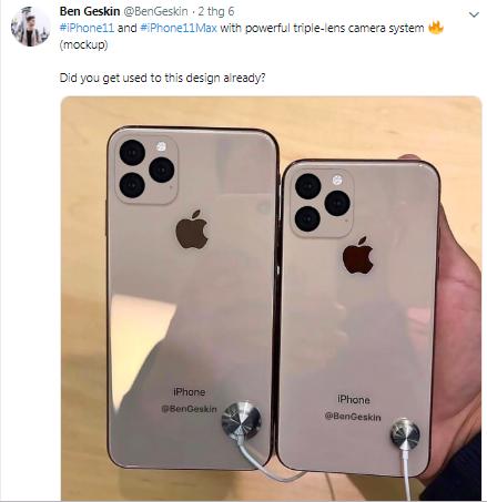 Rò rỉ thiết kế camera sau của bộ ba iPhone sắp ra mắt