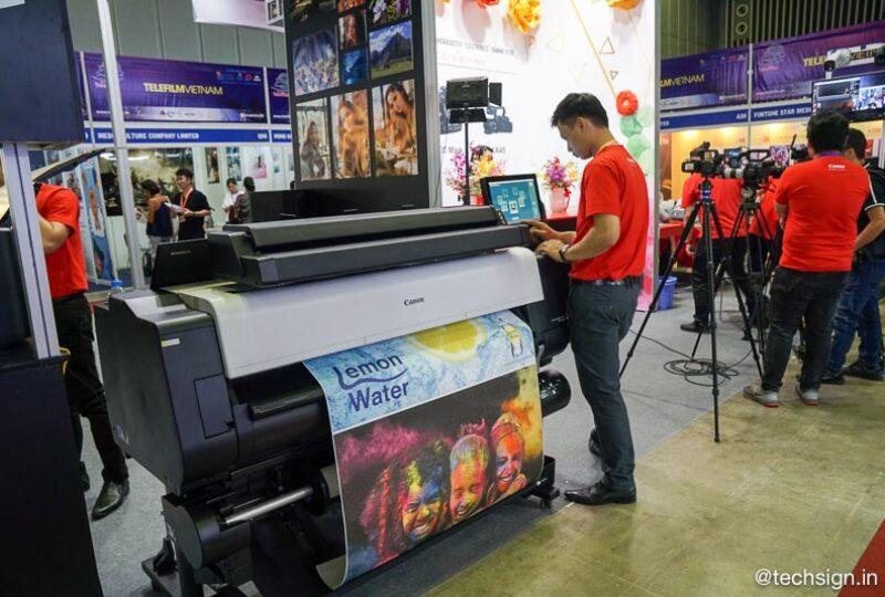 Canon ra mắt loạt máy in phun và laser màu tại triển lãm ICT COMM 2019