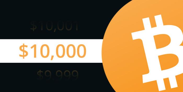 Giá Bitcoin tăng trở lại 10.000 USD sau 1 năm
