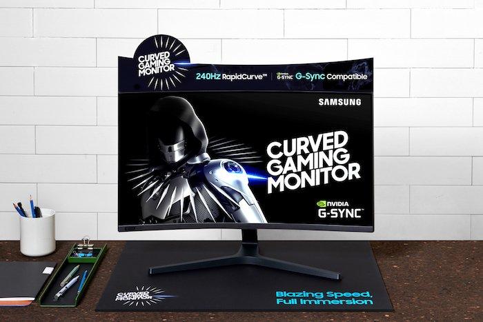 Samsung công bố màn hình cong CRG5 240Hz tương thích G-Sync