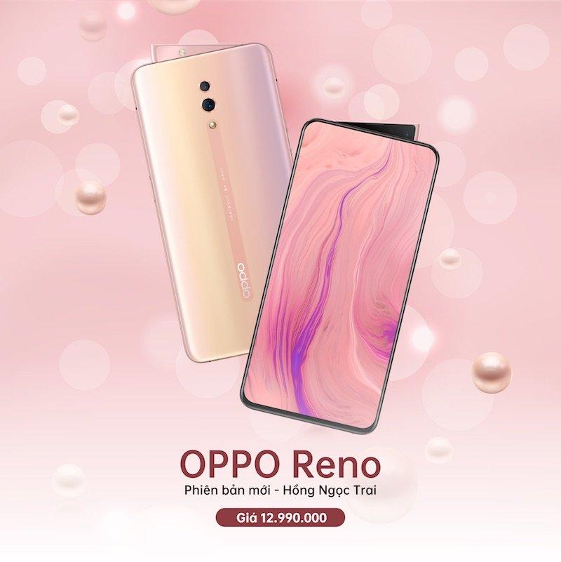 OPPO Reno có thêm phiên bản Hồng Ngọc Trai