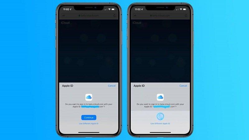 Apple thử nghiệm đăng nhập web iCloud bằng Face ID và Touch ID