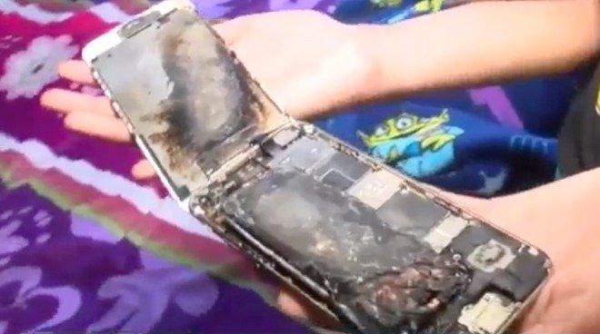 iPhone 6 bỗng dưng bốc cháy trên tay bé gái 11 tuổi