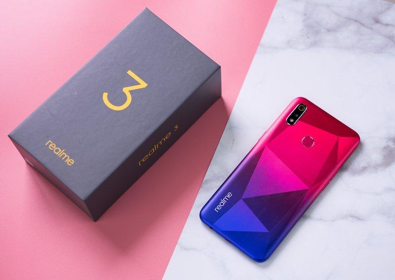 Realme 3 có thêm màu sắc kim cương hồng