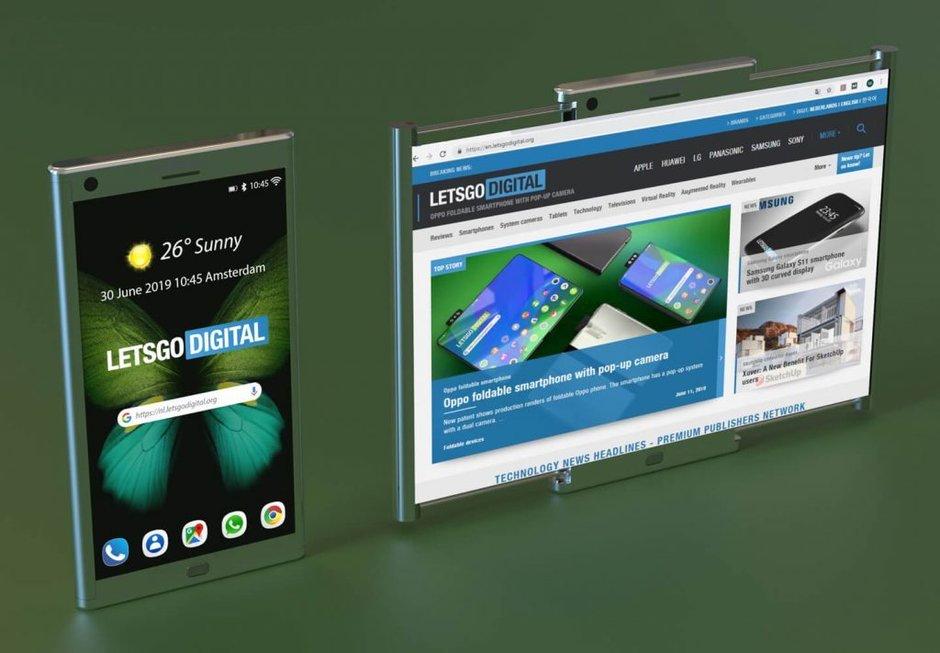 Samsung nhận bằng sáng chế màn hình cuộn, có thể mở rộng sang hai bên