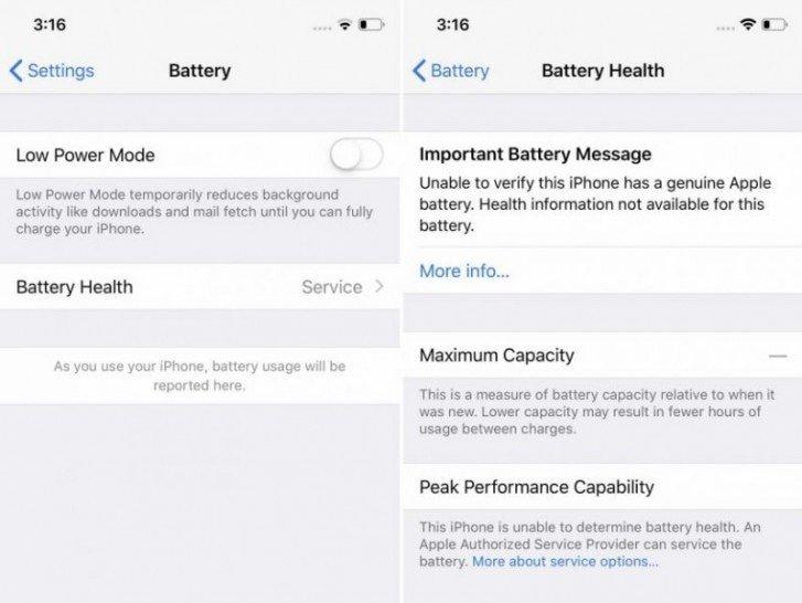 Apple giải thích về cảnh báo thay pin iPhone không chính hãng