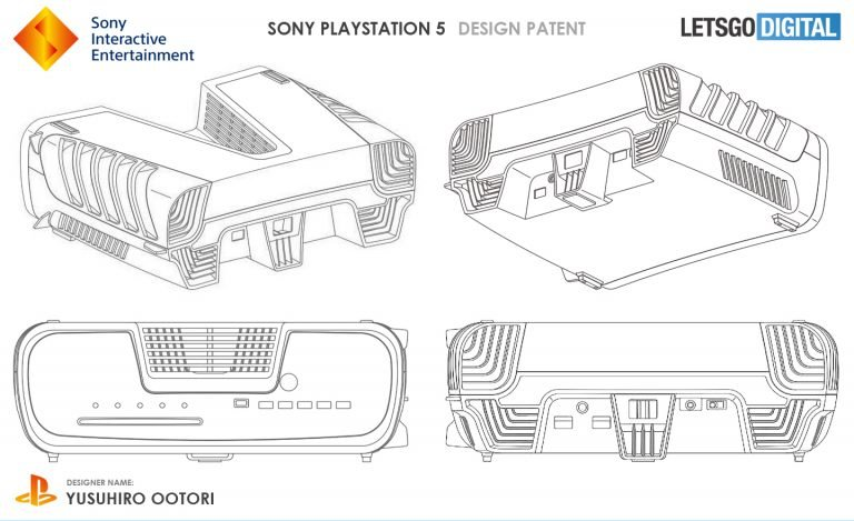 Rò rỉ hình ảnh thiết kế chữ V của Sony PlayStation 5