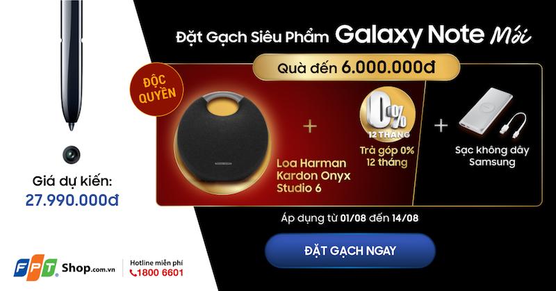 Đặt trước Galaxy Note 10 và 10+ tại FPT Shop được tặng loa Harman Kardon Onyx Studio 6