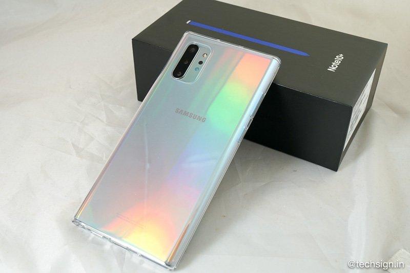 Mở hộp Samsung Galaxy Note10+ màu Aura Glow bản thương mại