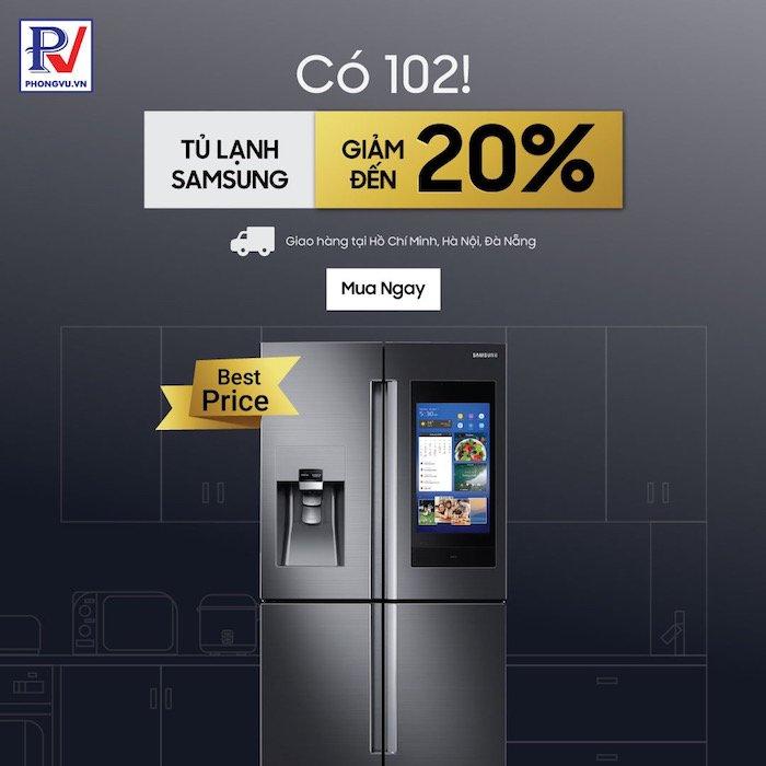 Phong Vũ mở bán tủ lạnh sau khi vào top 10 trang e-commerce hàng đầu Việt Nam