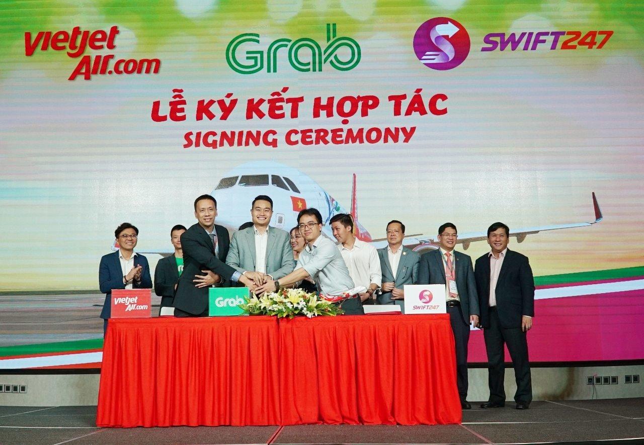 Vietjet, Swift247 và Grab hợp tác phát triển khu vực Đông Nam Á