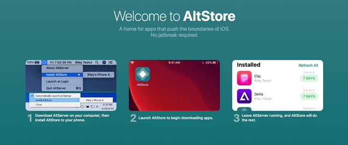 Cửa hàng ứng dụng AltStore hỗ trợ cài đặt phần mềm ngoài App Store