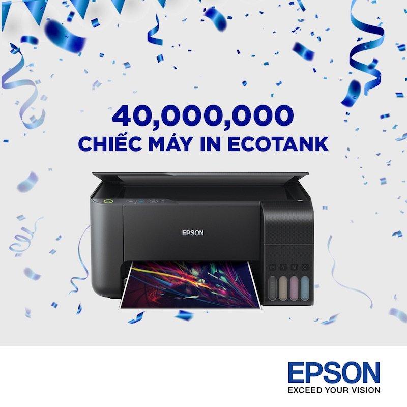 Epson cán mốc 40 triệu máy in phun bán ra toàn cầu