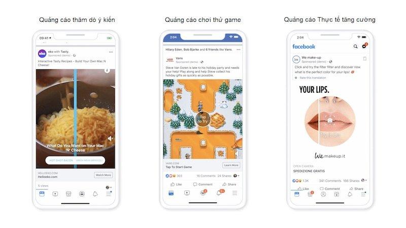 Facebook tung giải pháp quảng cáo mới, khuyến khích trải nghiệm vui nhộn