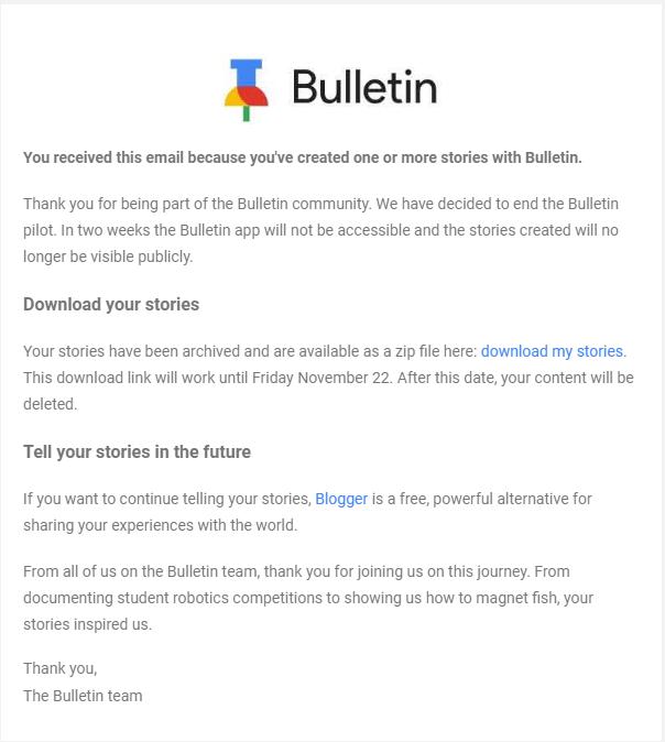 Google khai tử ứng dụng tin tức địa phương Bulletin