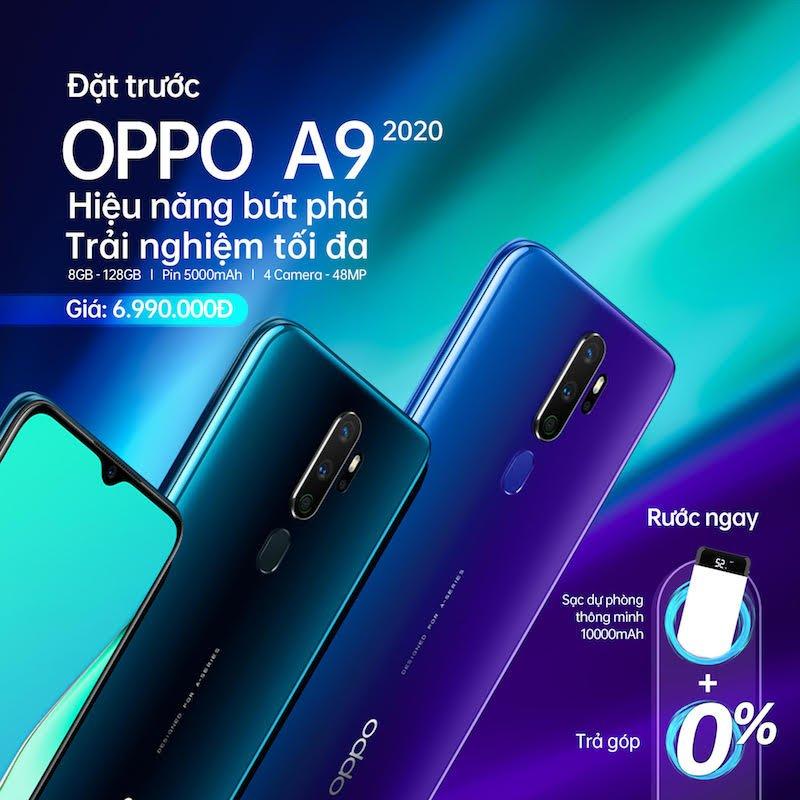OPPO A9 2020 mở bán từ 28/9 giá 7 triệu đồng