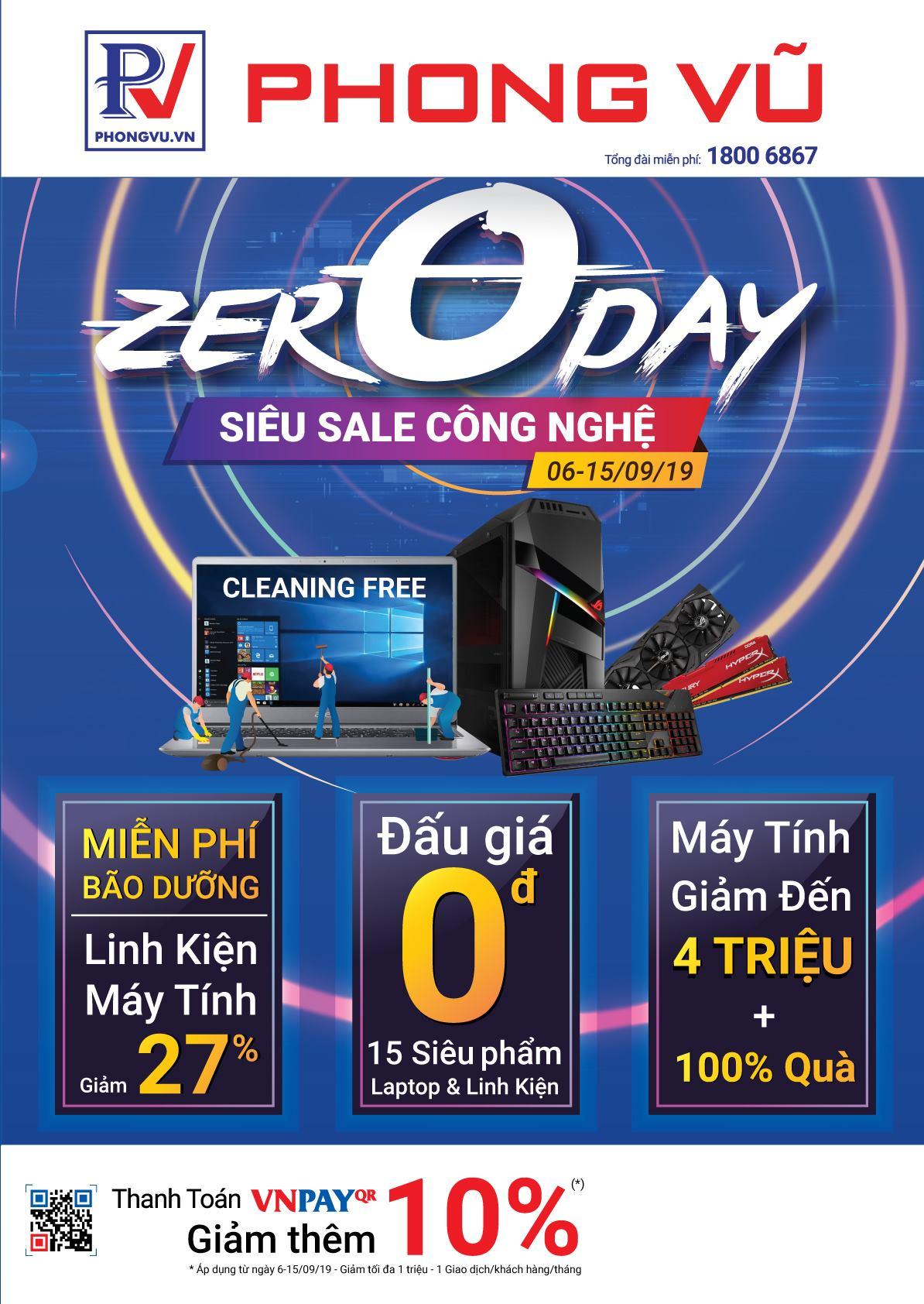 """Phong Vũ tung chương trình """"Zero Day - Siêu Sales Công Nghệ"""""""