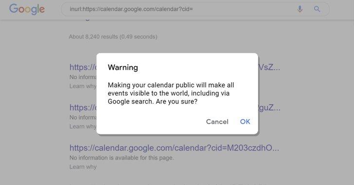 Rò rỉ dữ liệu hàng ngàn người dùng Google Calendar