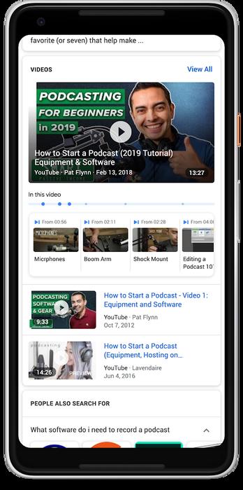 Đã có thể tìm kiếm khoảnh khắc quan trọng trong video bằng Google Search