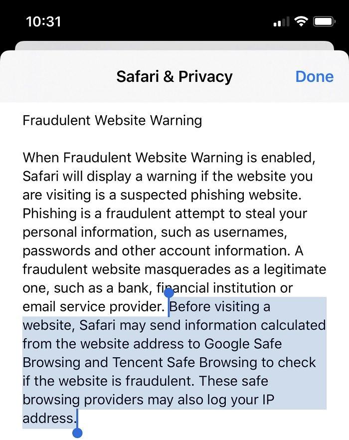 Apple gửi dữ liệu người dùng trong trình duyệt Safari cho Trung Quốc