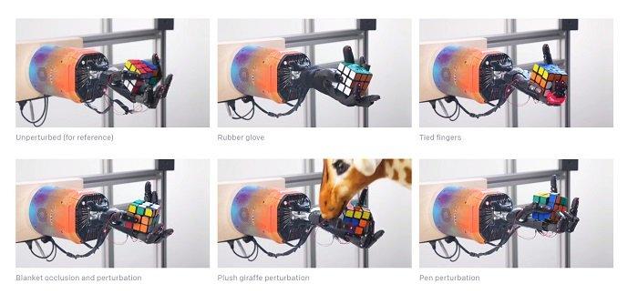 Bàn tay robot Dactyl của OpenAI đã học được cách giải khối rubik