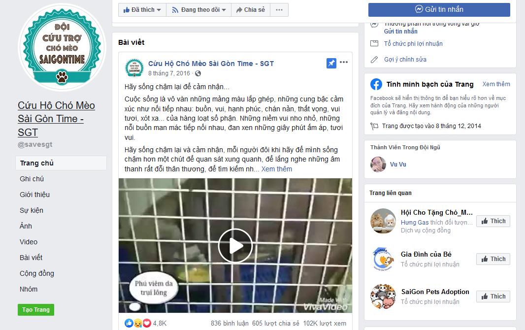 Những cộng đồng xã hội chung tay cứu trợ động vật trên Facebook