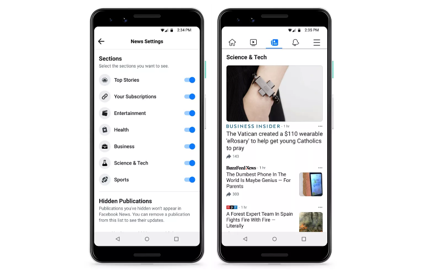 Facebook thử nghiệm tab 'Facebook News' tại Mỹ