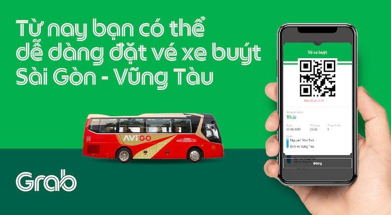 Grab thử nghiệm đặt vé xe buýt trên ứng dụng