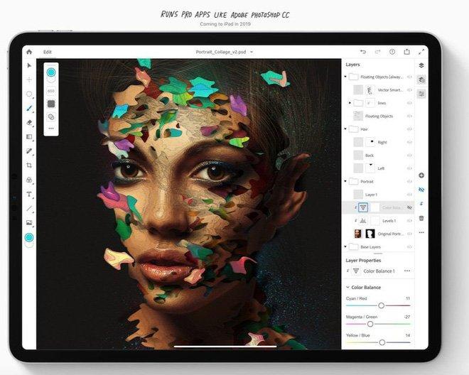 Ứng dụng Photoshop cho iPad sẽ không đầy đủ tính năng như mong đợi