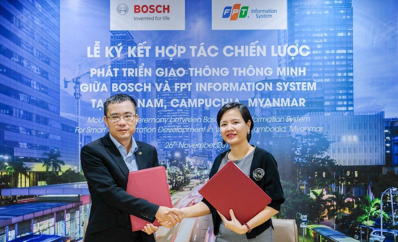 Bosch hợp tác FPT IS phát triển giải pháp Giao thông thông minh