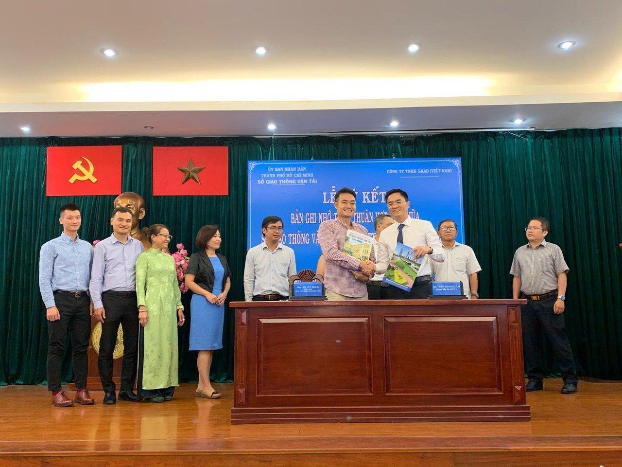 Grab ký kết thoả thuận hợp tác với Sở Giao thông vận tải TPHCM