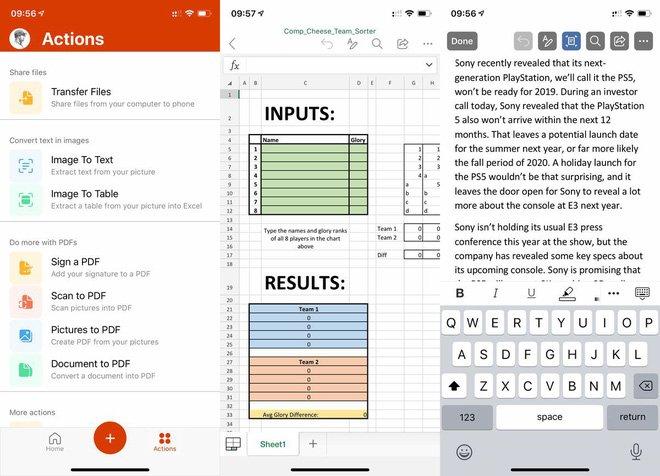 Microsoft phát hành ứng dụng Office đa năng, hợp nhất Word, Exel và Powerpoint