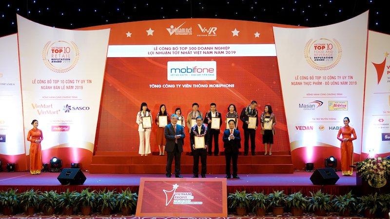 MobiFone có mặt trong Top 500 doanh nghiệp có lợi nhuận tốt nhất Việt Nam năm 2019