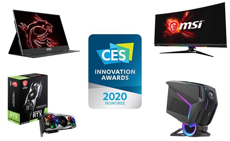 MSI đạt 10 giải thưởng tại CES Innovation Awards 2020