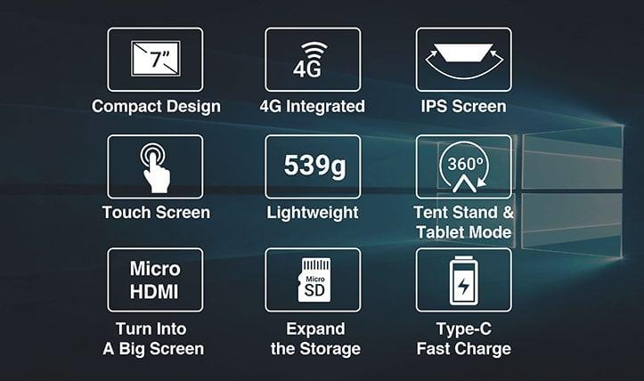 Peakago: laptop mini giá rẻ, chạy Windows 10 với đầy đủ tính năng