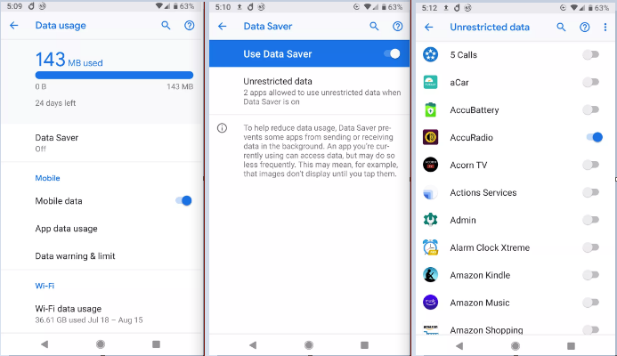 Cách tránh phát sinh cước phí dữ liệu mạng trên điện thoại Andoid
