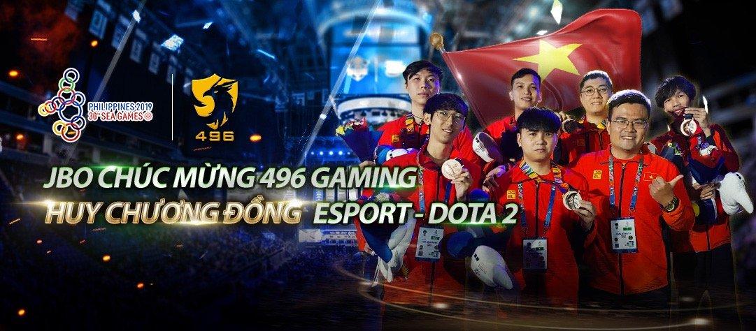 496 Gaming giành Huy Chương Đồng môn Dota 2 tại SEA Games 30