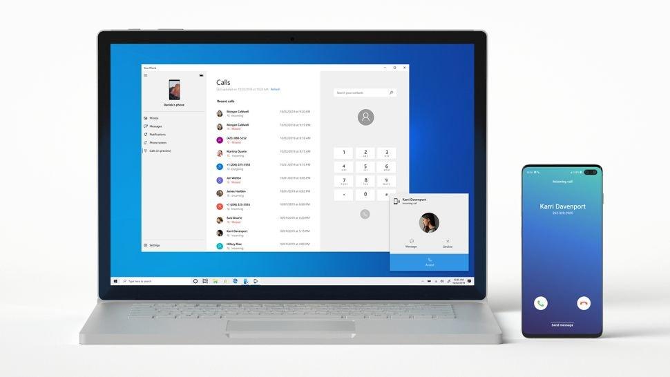 Bạn có thể gọi điện thoại từ máy tính chạy Windows 10