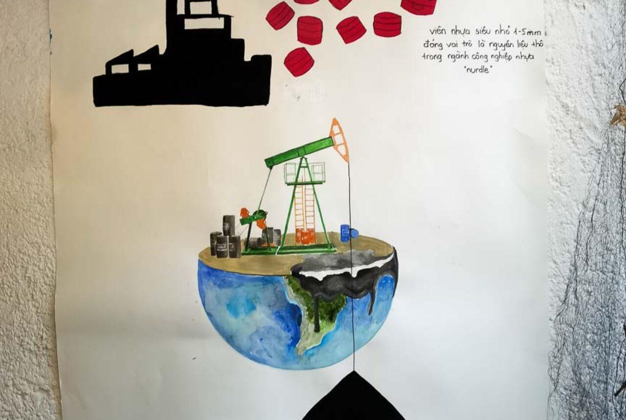 Những bức tranh tuyên truyền về tác hại của rác thải nhựa
