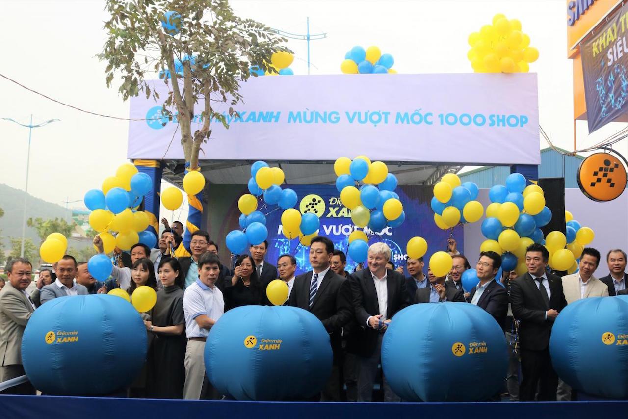 Điện máy Xanh công bố đã vượt mốc 1000 siêu thị