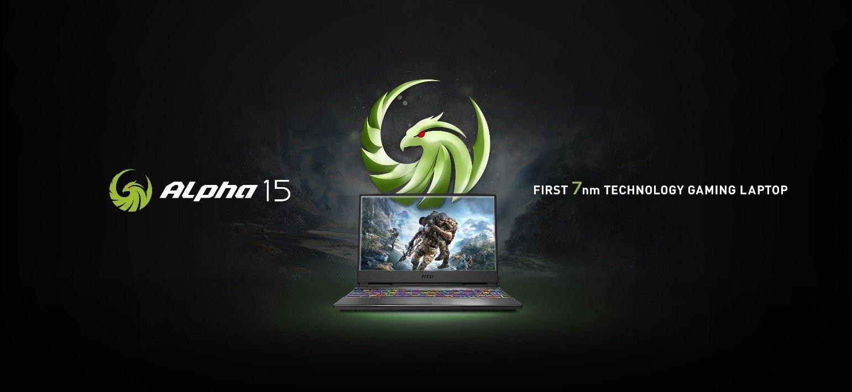 MSI công bố laptop chơi game Alpha 15 đầu tiên trang bị công nghệ 7nm