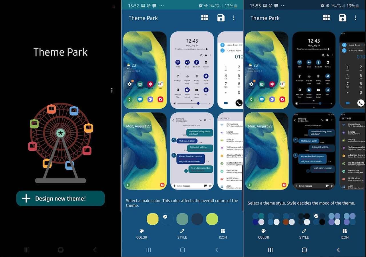 Samsung có ứng dụng đổi chủ đề smartphone với tên Theme Park