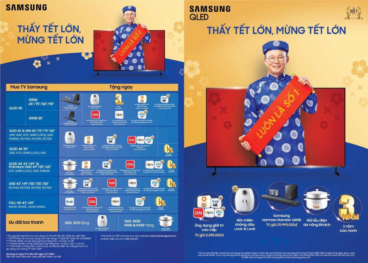 Samsung TV ưu đãi mừng Tết Nguyên Đán Canh Tý 2020