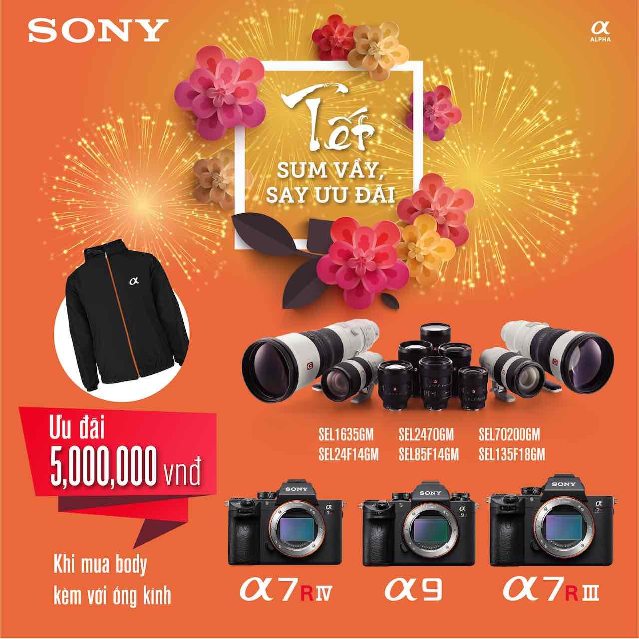 Sony tung khuyến mãi Tết 2020 cho máy ảnh và ống kính
