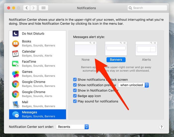 Tùy chỉnh hiển thị và dừng nhận thông báo trên máy Mac