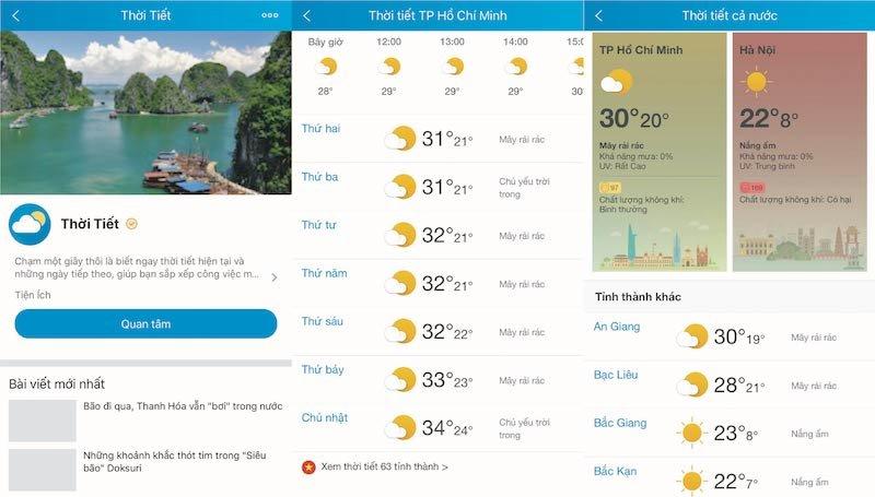 Zalo hỗ trợ theo dõi chất lượng không khí và chỉ số UV