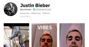 Mở tài khoản TikTok, chưa 10 ngày Justin Bieber có 2,3 triệu followers
