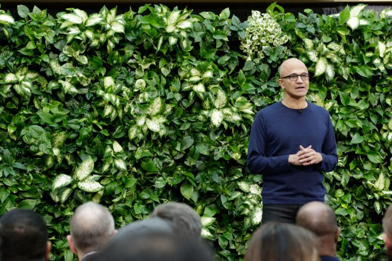 Microsoft cam kết thải carbon âm tính vào năm 2030