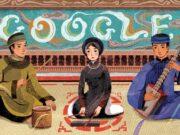 Google đổi Doodle trang tìm kiếm, vinh danh Ca trù Việt Nam